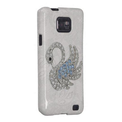 Diamonds Swan & Paisley Lace Samsung Galaxy Case Samsung Galaxy SII Case