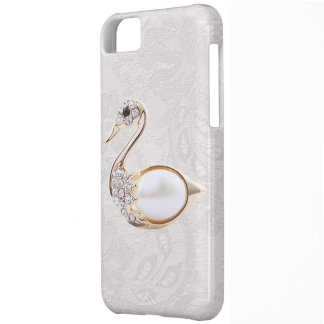 Diamonds Swan Print & Paisley Lace iPhone 5 Case
