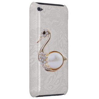 Diamonds Swan Print & Paisley Lace iPod Touch Case