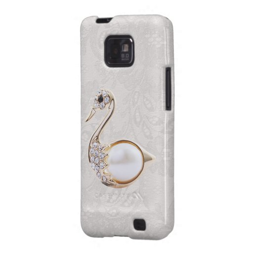 Diamonds Swan Print & Paisley Lace Samsung Galaxy Samsung Galaxy S2 Case