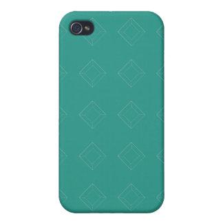 Diamonds yellow and aqua greens iPhone 4 cases