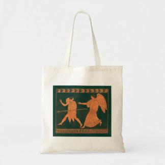 Diana and an Angel, Vintage Roman Mythology