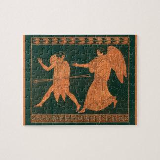 Diana and an Angel, Vintage Roman Mythology Jigsaw Puzzle