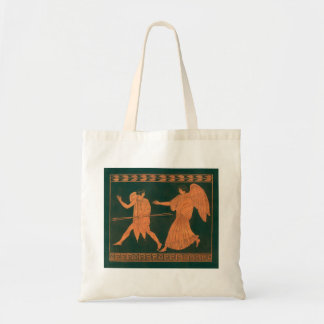 Diana and an Angel, Vintage Roman Mythology Tote Bag