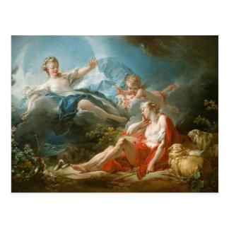 Diana and Endymion By Jean-Honoré Fragonard Postcard