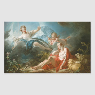 Diana and Endymion By Jean-Honoré Fragonard Rectangular Sticker