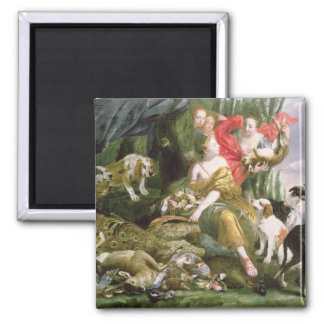 Diana and her handmaidens after the hunt square magnet