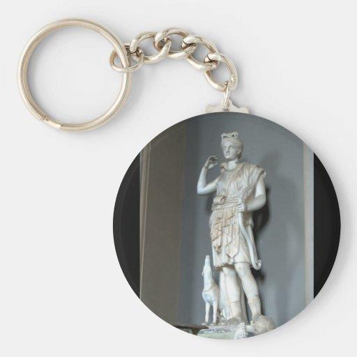 Diana (Artemis) Statue in the Vatican in Rome Keychain