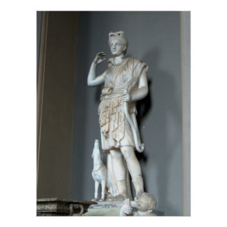 Diana (Artemis) Statue in the Vatican in Rome Poster