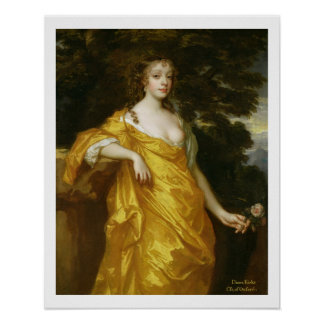 Diana Kirke, Later Countess of Oxford, c.1665-70 ( Poster