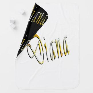 Diana, Name, Logo, Reversible Baby Blanket. Baby Blanket