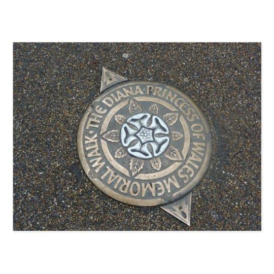Diana, Princess of Wales, Memorial Walk Marker Postcard