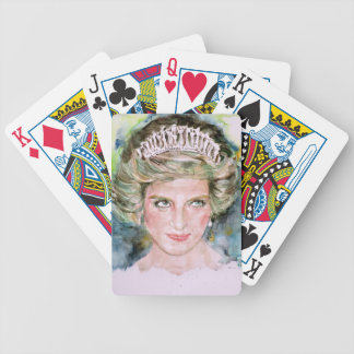 DIANA - PRINCESS OF WALES - watercolor portrait.3 Bicycle Playing Cards