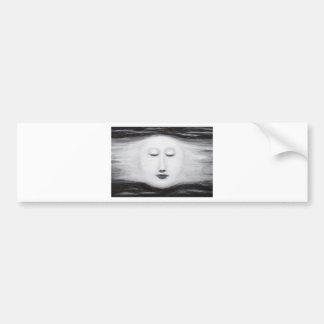 Diana Sleeping Full Moon (Surreal Realism) Bumper Sticker