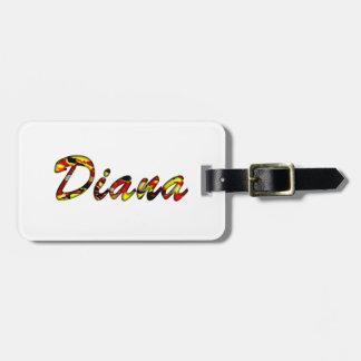 Diana's luggage tag