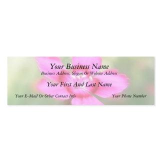 Dianthus Deltoides Flowers  - Close Up Business Cards