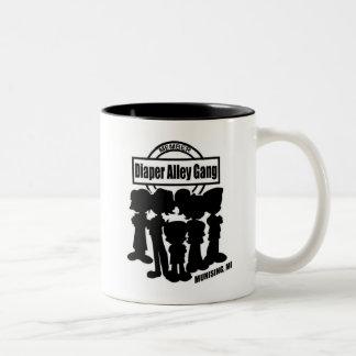 Diaper Alley Gang Two-Tone Coffee Mug