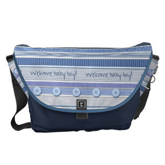 Diaper Bag - Welcome Baby Boy Commuter Bag