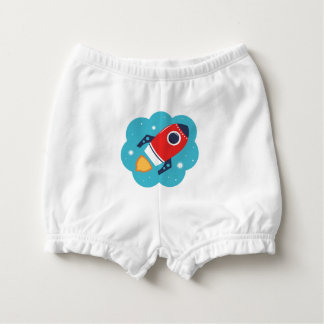 Diaper bloomers with Little Rocket Nappy Cover