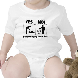 Diaper Changing Instructions T-shirt