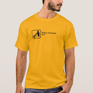 Diaper Changing Pro (small logo) T-Shirt