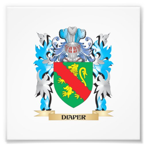 Diaper Coat of Arms - Family Crest Photograph