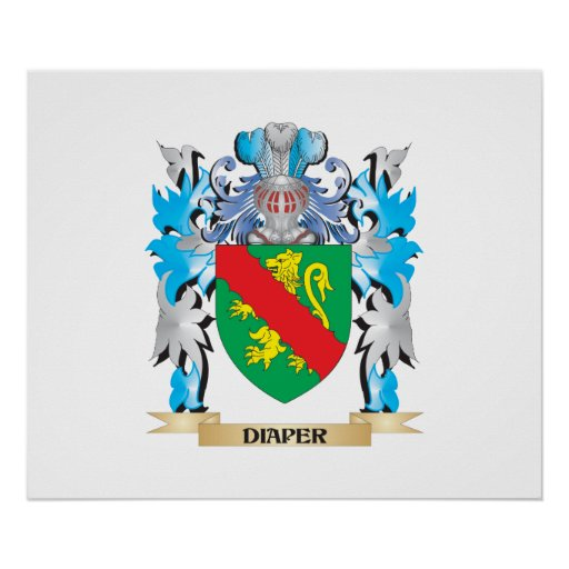 Diaper Coat of Arms - Family Crest Posters