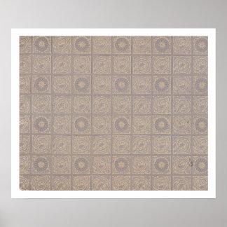 Diaper design for wallpaper, 1883 poster