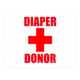 Diaper Donor Baby Postcard
