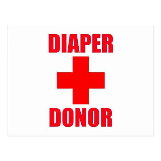 Diaper Donor Baby Post Cards
