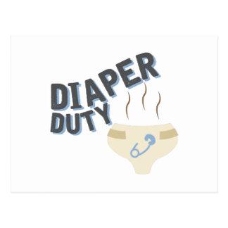 Diaper Duty Postcard