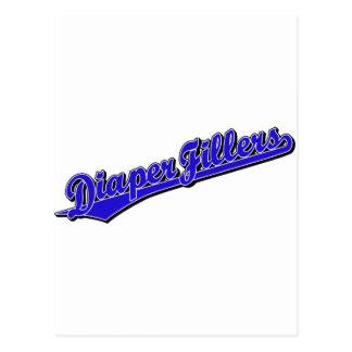 Diaper Fillers in Blue Postcards