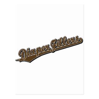 Diaper Fillers in Brown Postcard