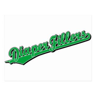 Diaper Fillers in Green Postcard