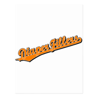 Diaper Fillers in Orange Postcard
