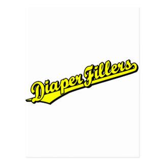 Diaper Fillers in Yellow Postcard