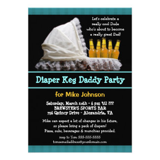 Diaper Keg Invitations - Dadchelor Beer Party