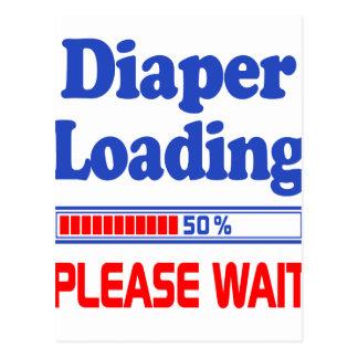 diaper loading please wait postcard