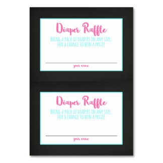 Diaper Raffle Card Chalkboard Baby Shower Ticket