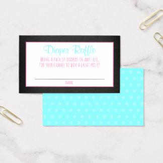 Diaper Raffle Card Chalkboard Baby Shower Ticket