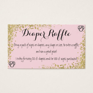 Diaper Raffle Invitation Insert