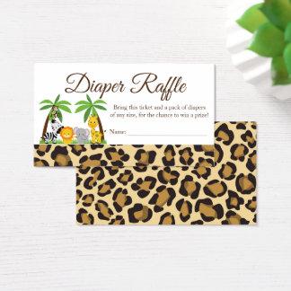 Diaper Raffle Jungle Safari Baby Shower Card
