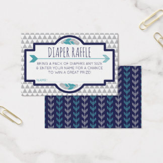 Diaper Raffle Ticket, Aztec, Arrows, Tribal Business Card