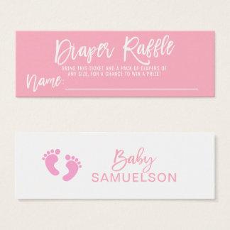 DIAPER RAFFLE Ticket Pink Girl Baby Shower