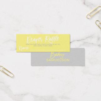 DIAPER RAFFLE Ticket Yellow Grey Baby Shower