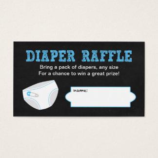 Diaper Raffle Tickets / Chalkboard boy baby shower