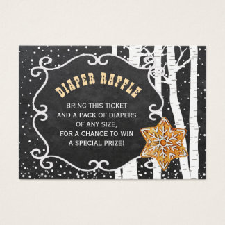 Diaper raffle winter baby shower insert card