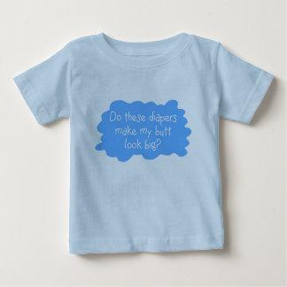 Diapers Make Butt Big Blue Baby T-Shirt