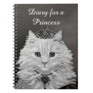Diary for a Princess - Cat Queen of Hearts Notebooks