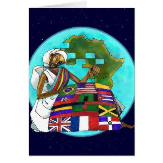 'Diaspora Quilt' Kwanzaa greeting card